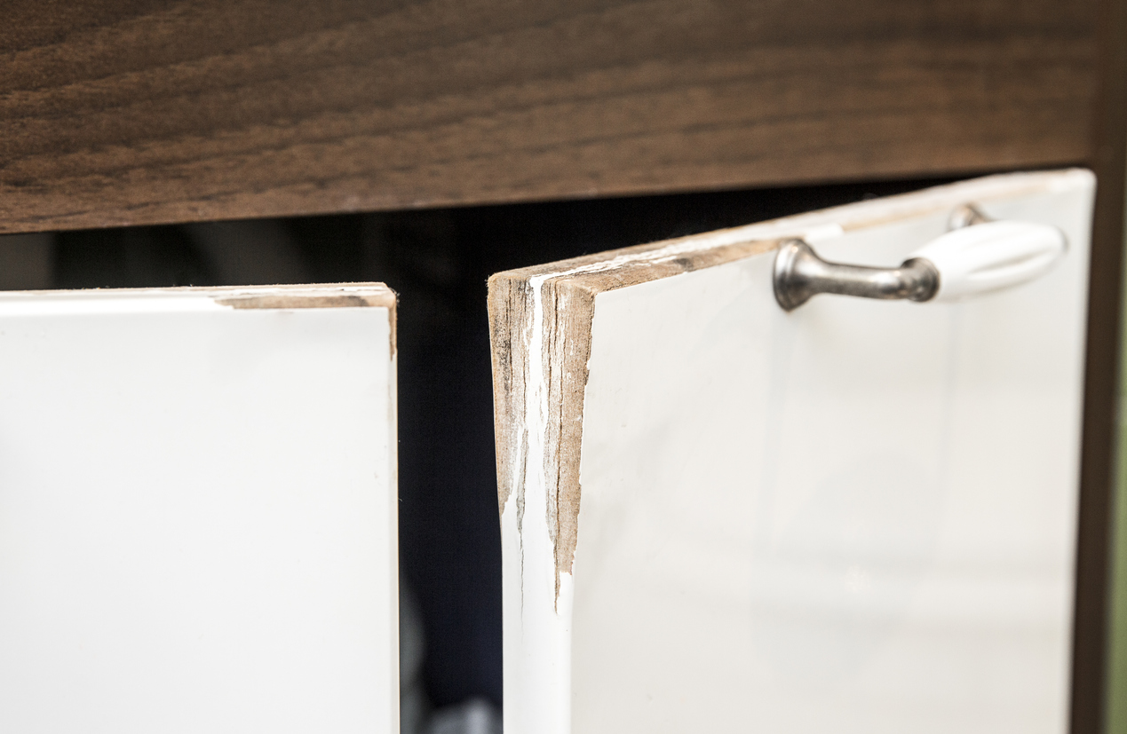 How To Repair Peeling Veneer On Particle Board Cabinets